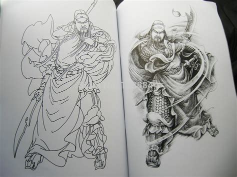 guan gong tattoo design wholesale china tattoo flash book traditional figures guan