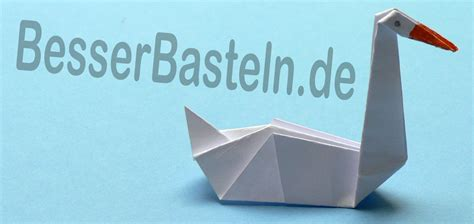 Origami Schwan - origami tiere falten schwan
