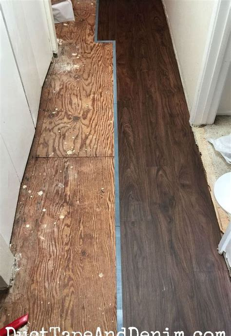 replacing a small section of carpet replacing the old carpet with vinyl plank flooring hometalk