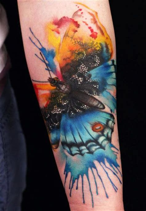 watercolor tattoo emrah butterfly watercolor insect tattoomagz
