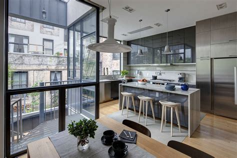 Kitchens Designs Australia by Stylish Townhouse Interior In New York
