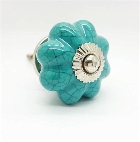 Ceramic Flower Knobs by Crackle Ceramic Flower Cupboard Handle Door Pull Knob By