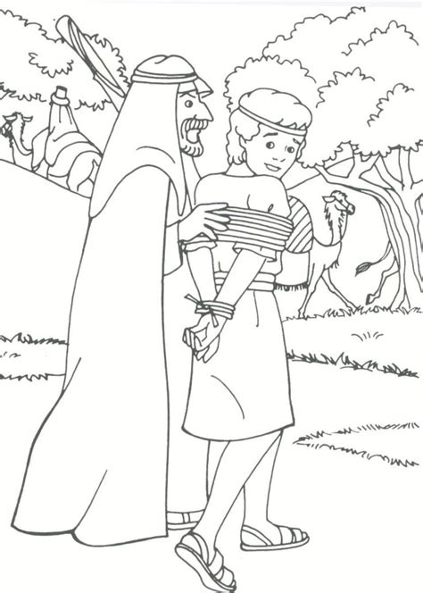 Joseph Sold Into Slavery Coloring Pages Gospel Joseph In Prison Coloring Pages