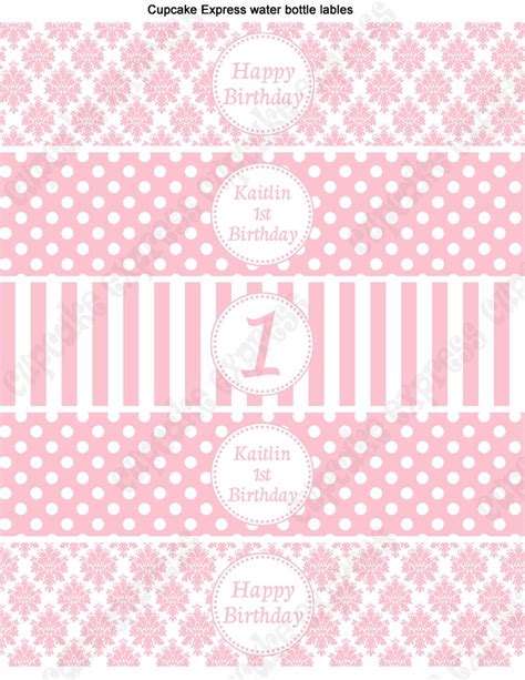 free water bottle labels for baby shower template diy shabby chic baby shower birthday printable
