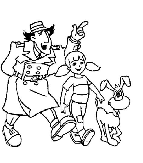 Inspector Gadget Coloring Pages Inspector Gadget Coloring Pages Coloringpagesabc Com