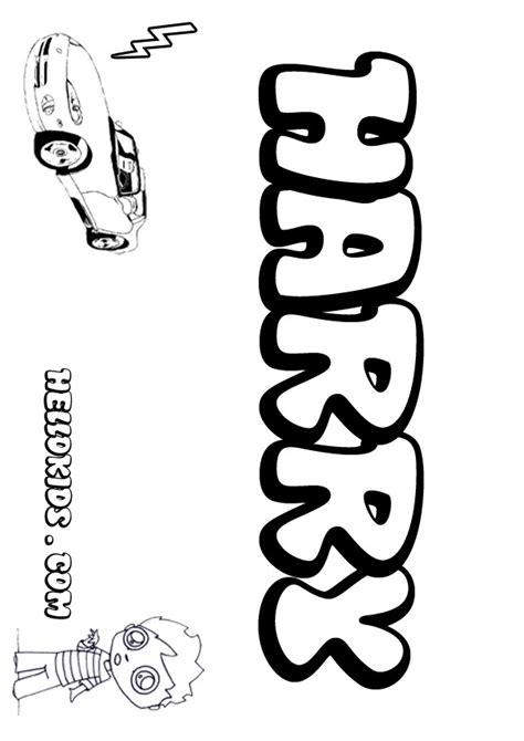 Harry Coloring Pages Hellokids Com Name Colouring Pages