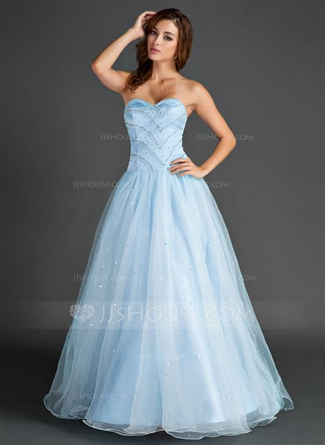 jjs house a line princess sweetheart floor length organza prom dress with beading 018015566