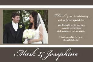 photo wedding thank you cards wty0040 wedding thank you card li designs