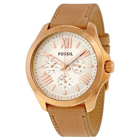 Fossil Fs0115 Brown List White fossil cecile multi function beige leather