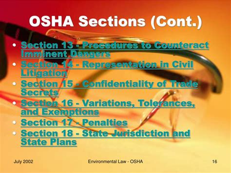 what is section 11 c of the osh act ppt occupational safety and health act of 1970