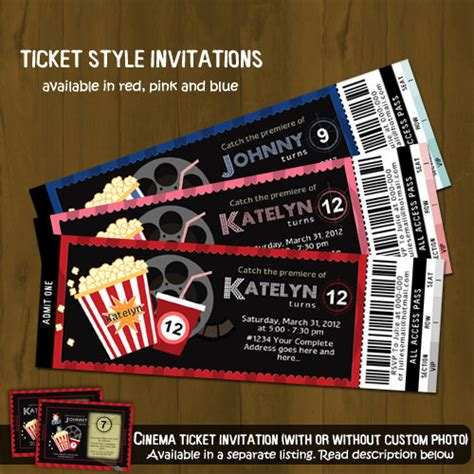 free printable movie tickets invitations movie night ticket invitation 183 splashbox printables