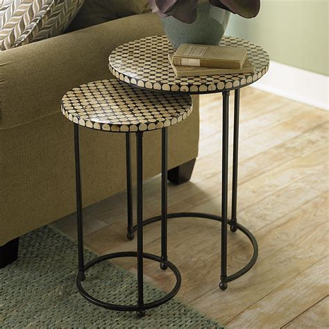 nesting accent tables round nesting table set nesting side and accent tables