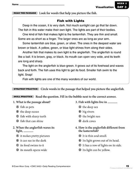 Reading Comprehension Worksheets Grade 2 by Grade 2 Reading Comprehension Worksheets Myideasbedroom