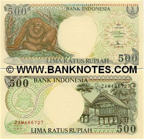 Uang 500 Kertas Taun 92 indonesia 500 rupiah 1992 currency bank notes paper money world currency
