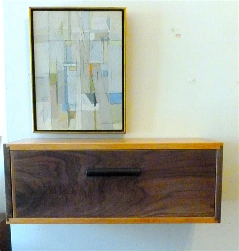 Wall Drawer Shelf by Furniture Mocca Stained Wood Wall Mount Shelf With