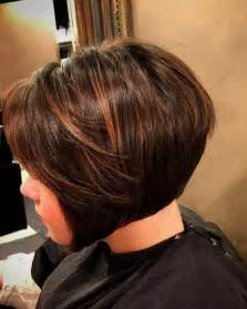 brown highlited bob haircuts chocolate bob hairstyle with brown highlights styles weekly