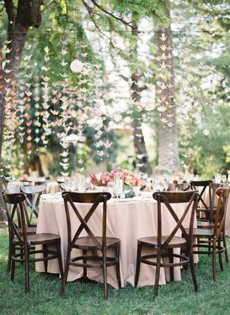 Origami Wedding Decor - the canopy artsy weddings weddings