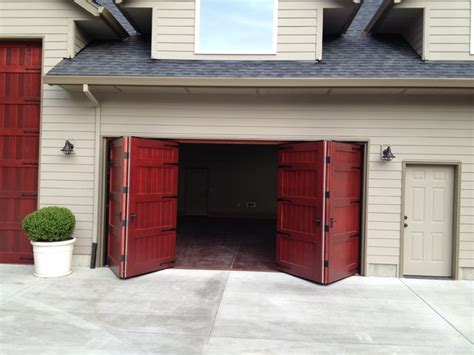 Bifold Overhead Doors Bi Fold Carriage Doors Portland Or Traditional Garage Doors And Openers Seattle By