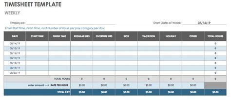 15 Free Payroll Templates Smartsheet Smartsheet Timesheet Template