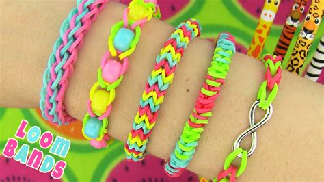 Cool Things To Make With Rubber Bands And Paper - how to make loom bands 5 easy rainbow loom bracelet