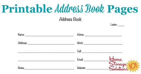 Free Directory Address Free Printable Address Book Pages Get Your Contact Information Organized