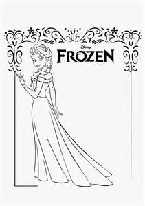Frozen Coloring Sheets All Characters 4 Beautiful Elsa Pages  sketch template