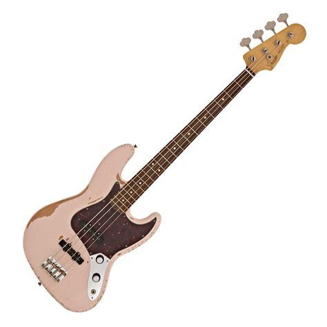 Bass Jazz Fender 1 fender flea signature jazz bass roadworn shell pink at gear4music