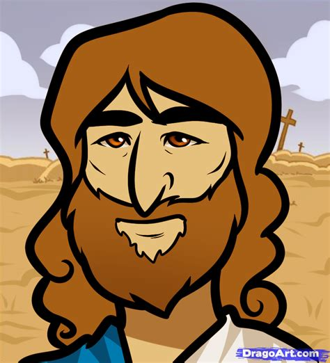 Easy To Draw Jesus by How To Draw Jesus Easy Step By Step Free Drawing Tutorial Added By