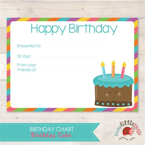 birthday chart template for classroom sle chart templates 187 birthday chart template for