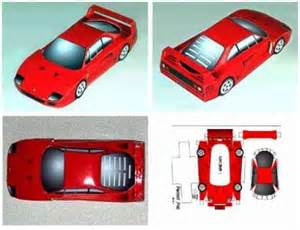 paper cars template craft templates paper model for free