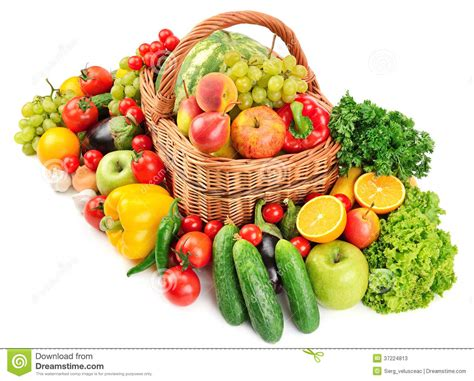 vegetarian baskets fruit and vegetable in basket stock image image of grape crop 37224813