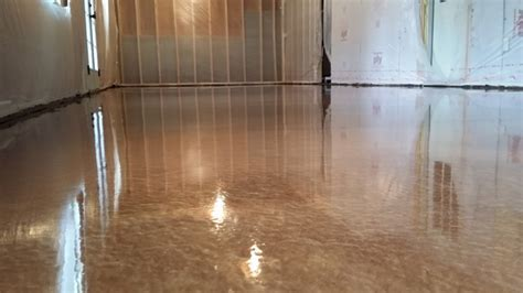 Copper Metallic Epoxy Floor in Apex, NC by Witcraft