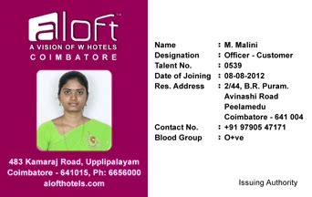 design id card online india webbience hotel identity card template 120826