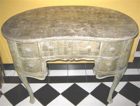kidney shaped dressing table desk in vintage vintage style dressers antique french silver gilded dressing table