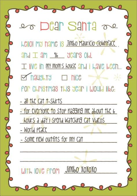8 Best Images Of Printable Christmas List For Santa Santa Claus Christmas List Template My Santa Wish List Template
