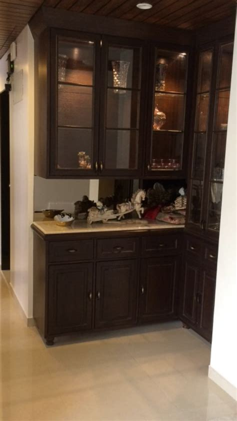 Interior View Of Our Work Crockery Cabinet   Living Room