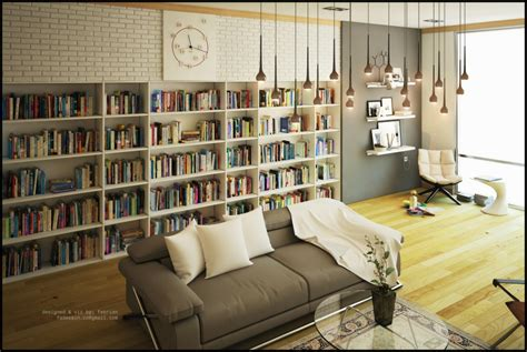 Living Room Library | living room library interior design ideas