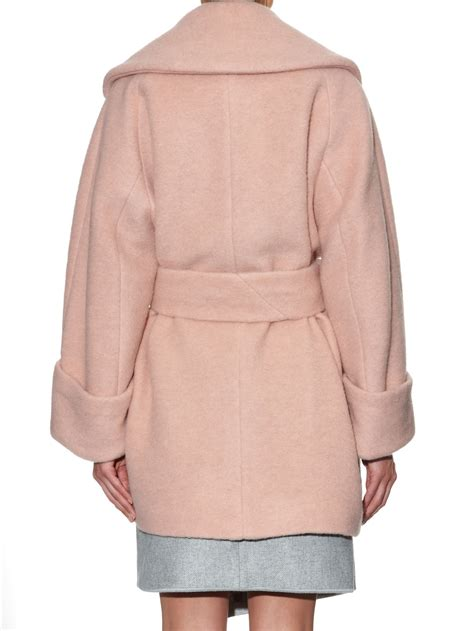 light blue wool coat carven over sized wool coat in pink lyst