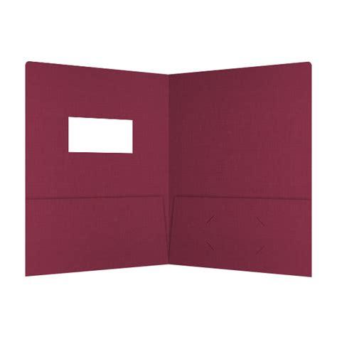 custom printed 2 pocket die cut window presentation folder