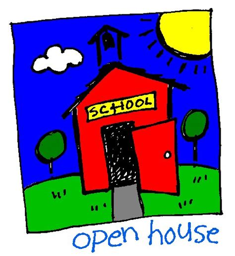how to do an open house school open house clip art clipartion com