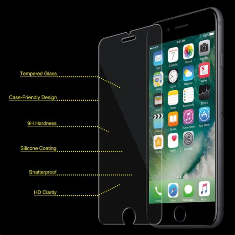 iphone  tempered glass screen protector bubble