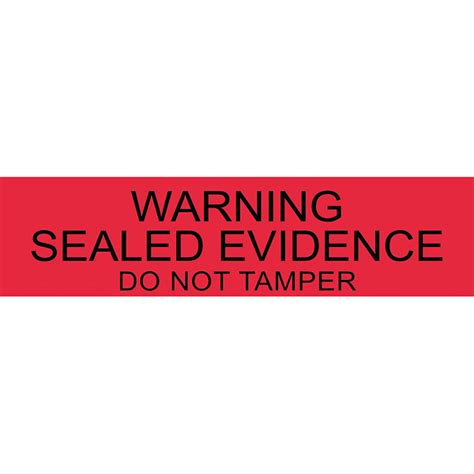 printable evidence labels warning sealed evidence 250 pcs welcome by loci