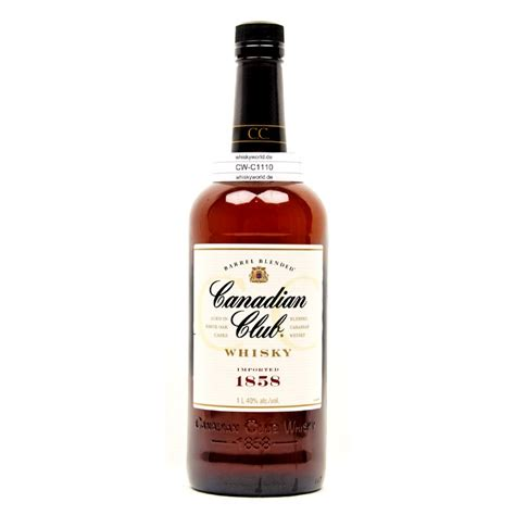 blended canadian whiskey canadian club blended canadian literflasche 1 liter