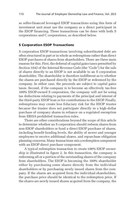 section 1042 esop warrants in esop transactions