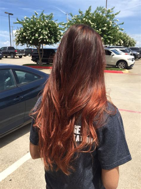 auburn with ombre highlights 1000 images about hair on pinterest auburn ombre dark