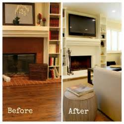 Floor And Decor Ga White Painted Fireplace Before And After Transitional