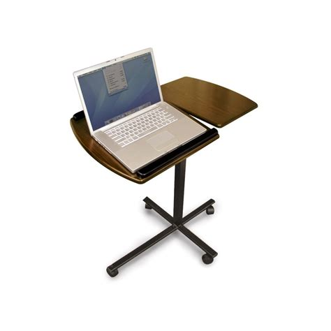 portable standing desk on wheels for laptop decofurnish