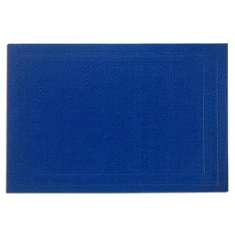Place Mat by Pacific Merchants 17 In X 12 In Woven Placemat Cobalt Blue