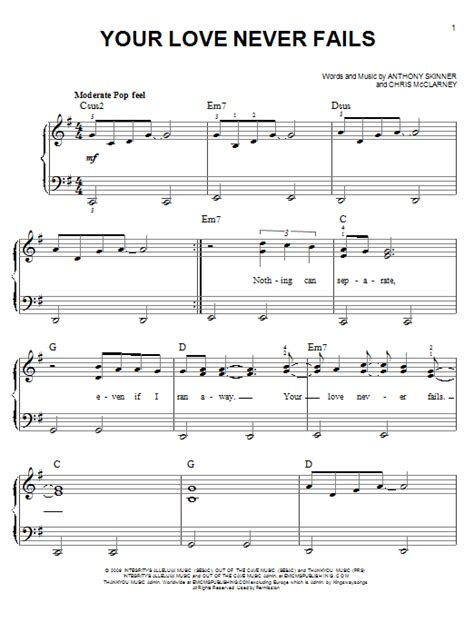 guitar tutorial your love your love never fails sheet music direct