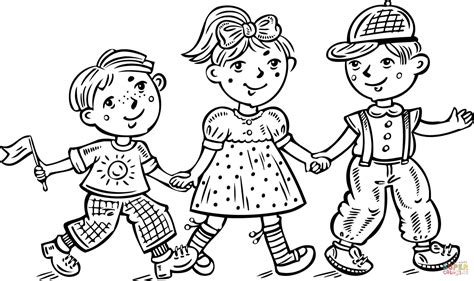 girl  boy coloring page az coloring pages